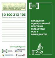 Складання індивідуальної програми реабілітації осіб з інвалідністю