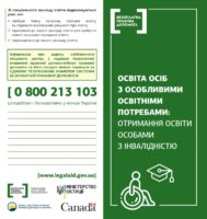 Освіта осіб з особливими освітніми потребами: отримання освіти особами з інвалідністю