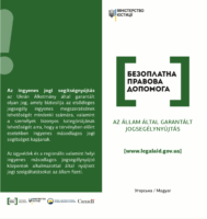 """""""Безоплатна правова допомога: правова допомога, що гарантується державою"""": угорською мовою"""